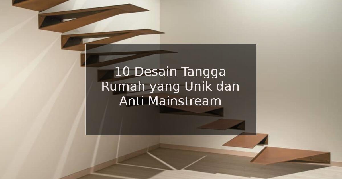 desain tangga rumah yang unik