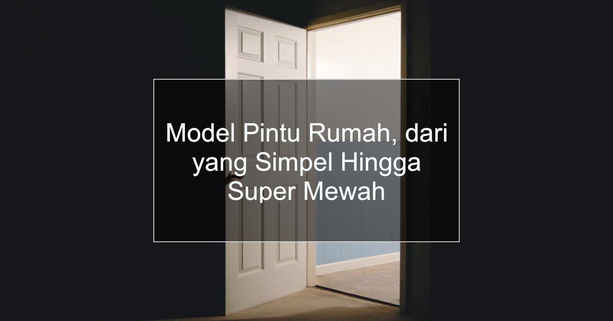 model pintu rumah