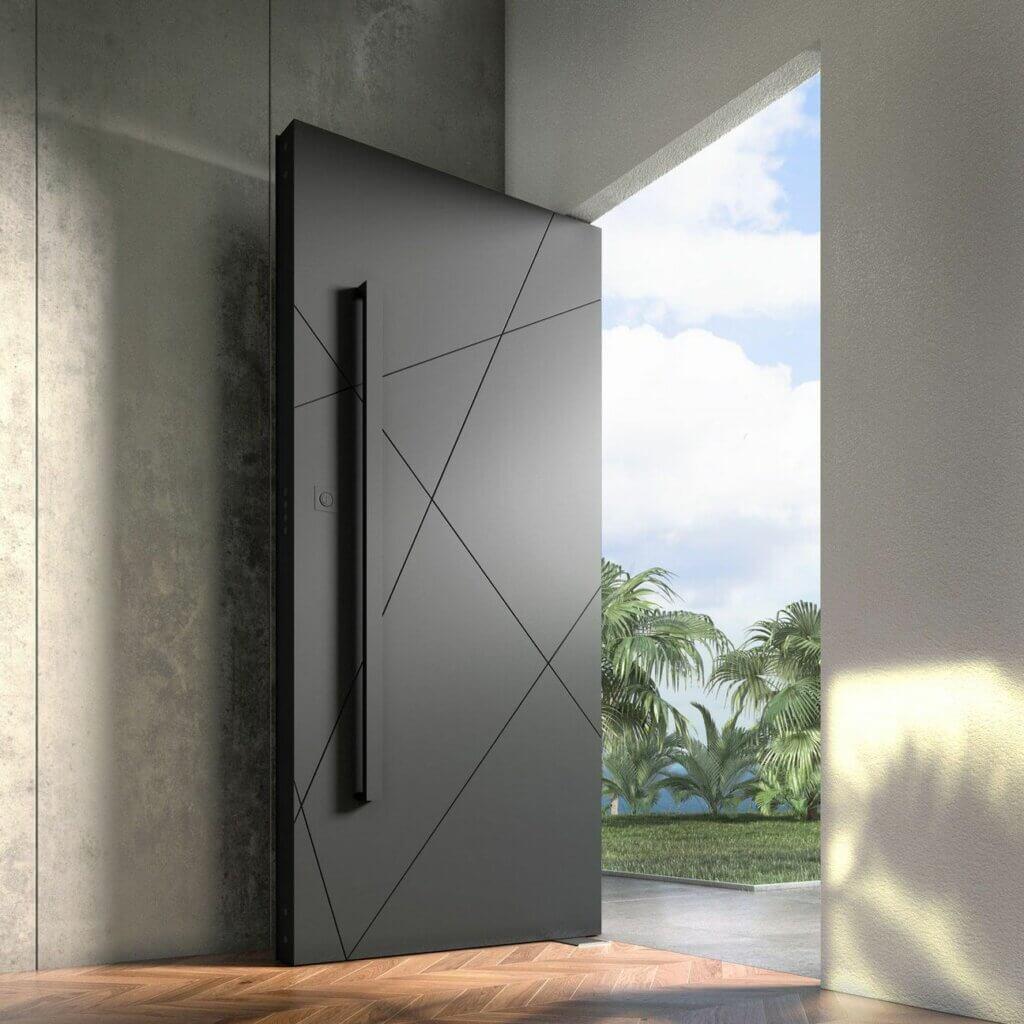 model pintu rumah baja
