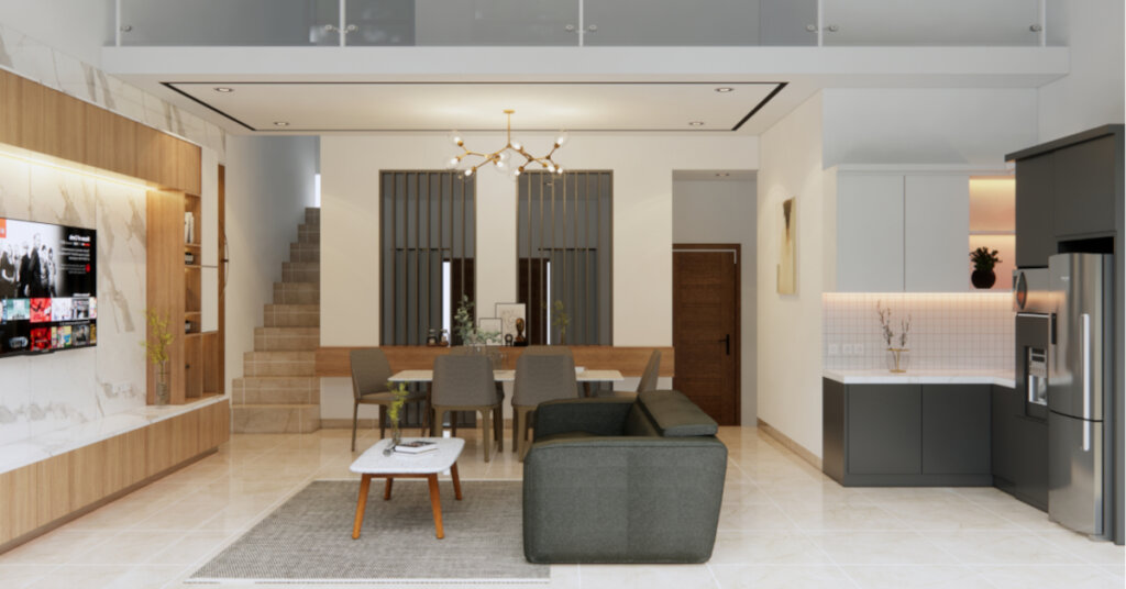 interior ruang tengah minimalis modern