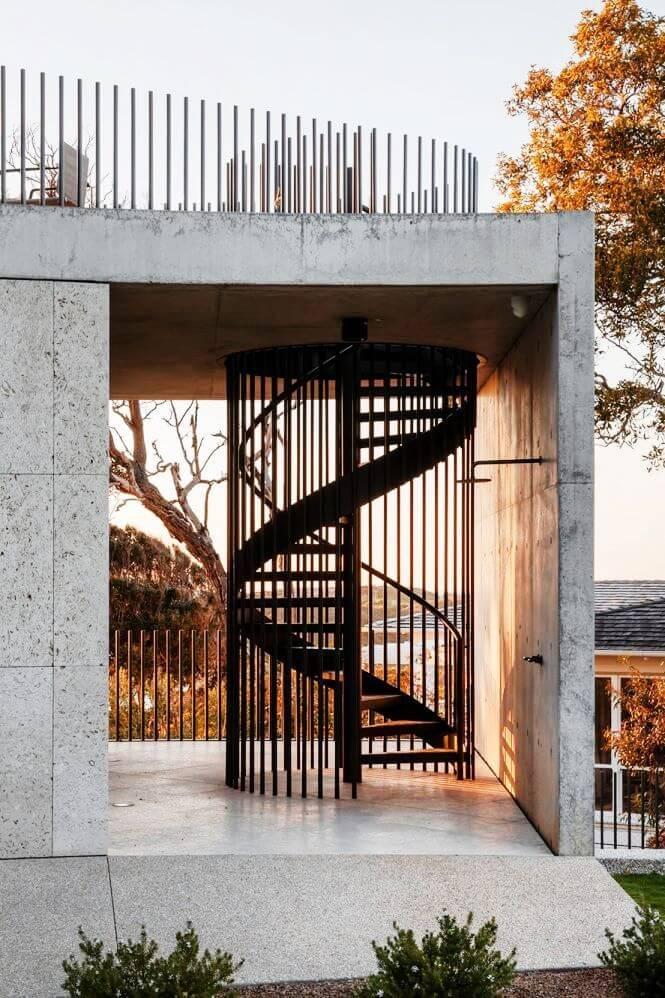 model tangga rumah spiral