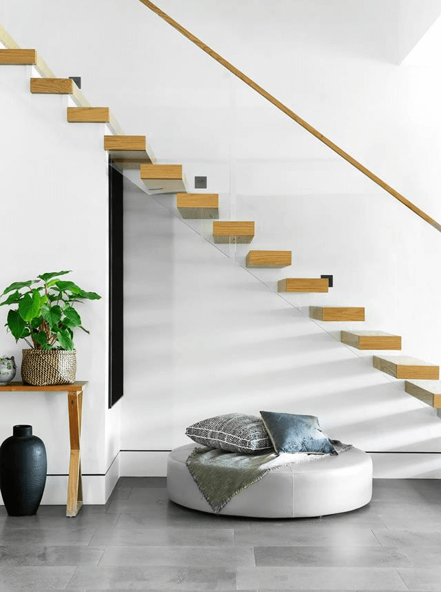 model tangga rumah topang