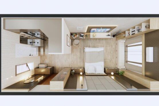 denah kamar tidur modern