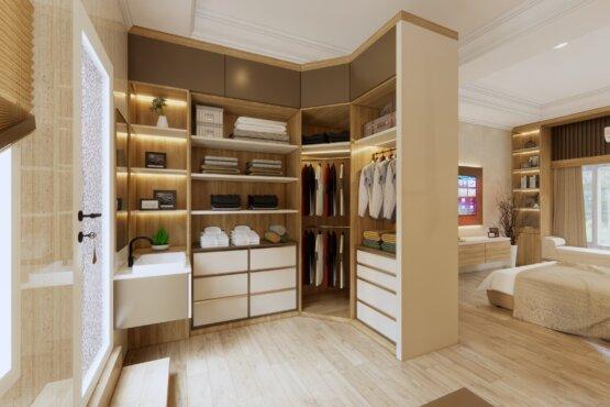 wardrobe kamar tidur modern