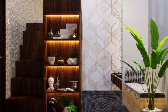 desain compact furniture di kamar tidur minimalis
