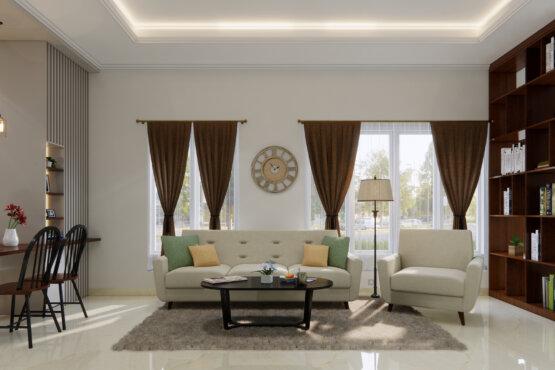 ruang tengah modern klasik