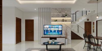 area ruang tengah modern klasik