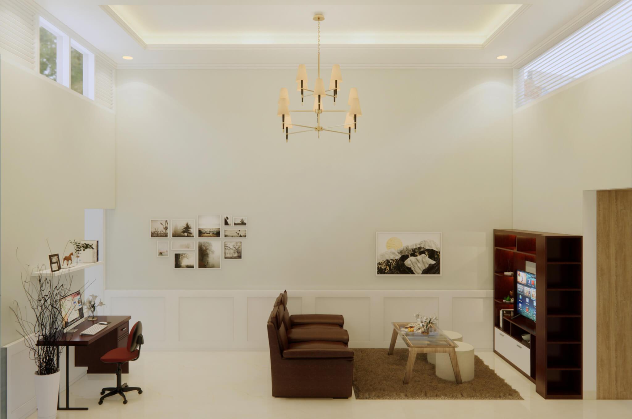 ruang keluarga bergaya modern