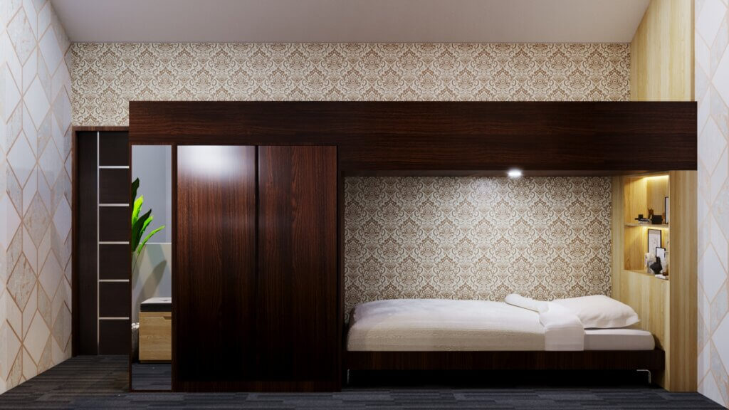 desain interior kamar tidur minimalis dengan hiasan sederhana