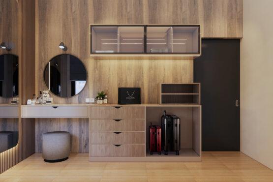 tampilan desain kamar kontemporer