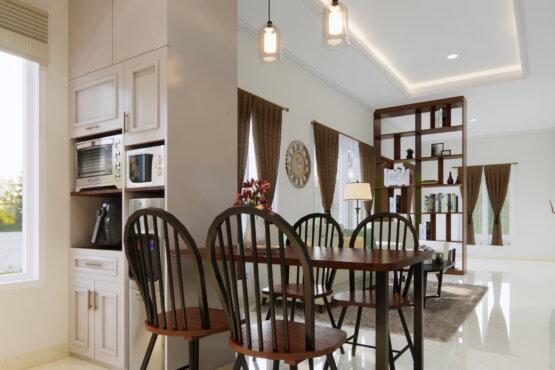 desain interior ruang tengah modern klasik