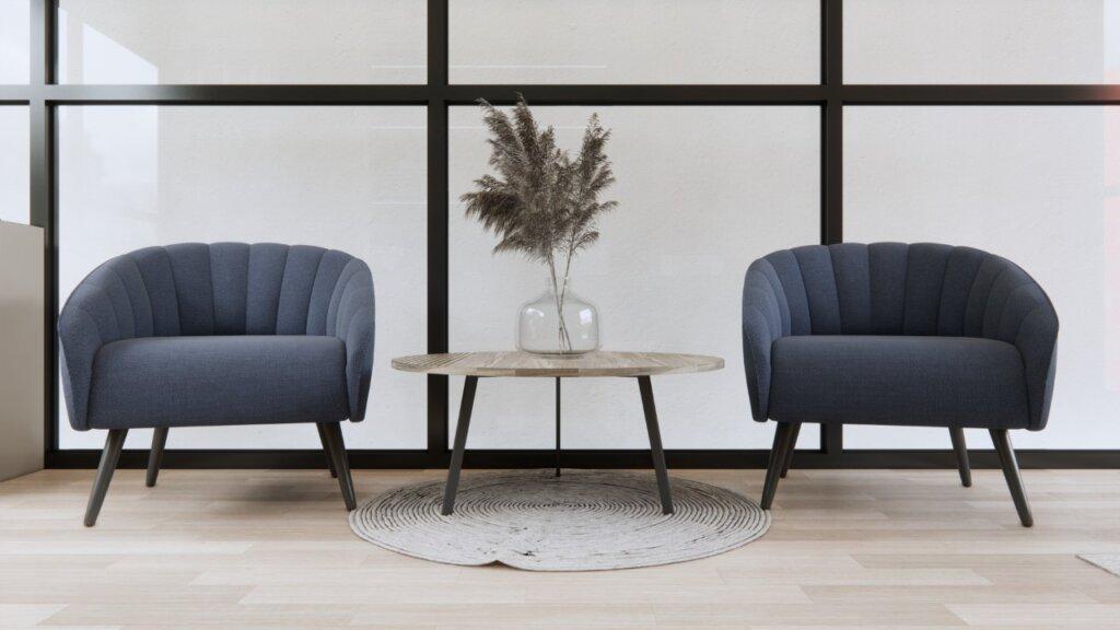 kantor minimalis modern dengan lantai vinyl