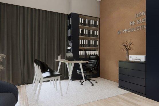 inspirasi desain kantor minimalis modern