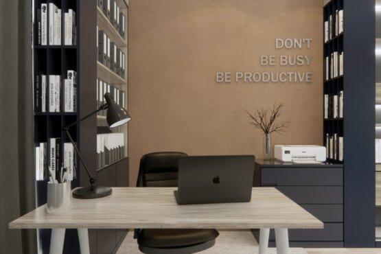 inspirasi interior kantor minimalis modern