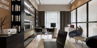 ide kantor minimalis modern