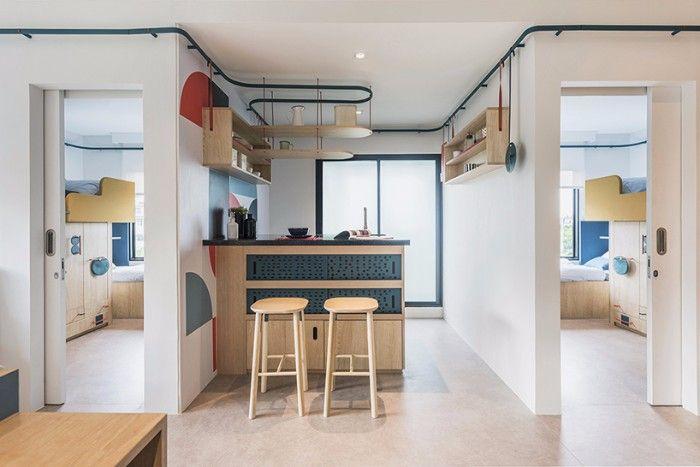 bentuk rumah atau apartemen co-living