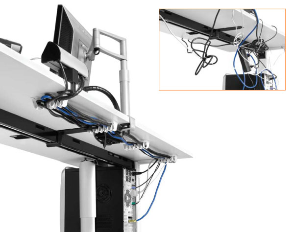 manajemen kabel meja kerja