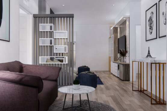 ruang tamu dan ruang keluarga modern
