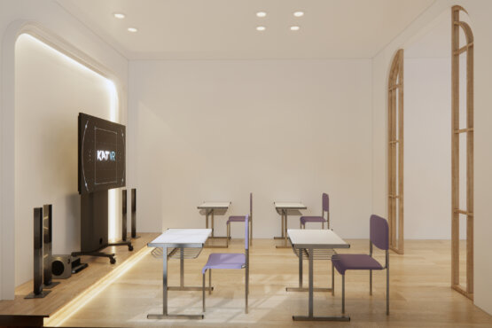 ide interior kantor eclectic design