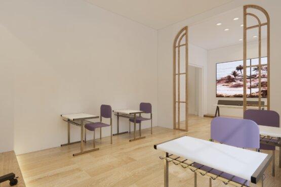 gambaran kantor eclectic design