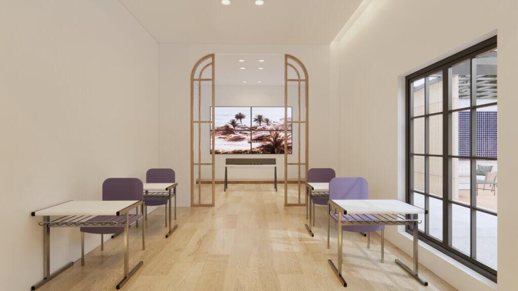 gambaran desain kantor eclectic design