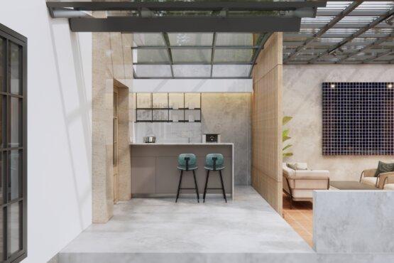 inspirasi kantor eclectic design