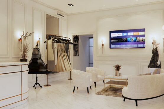 desain butik modern