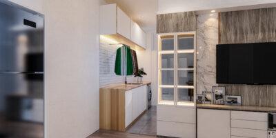 desain interior laundry room modern
