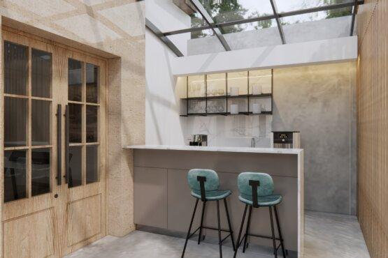 interior kantor eclectic design