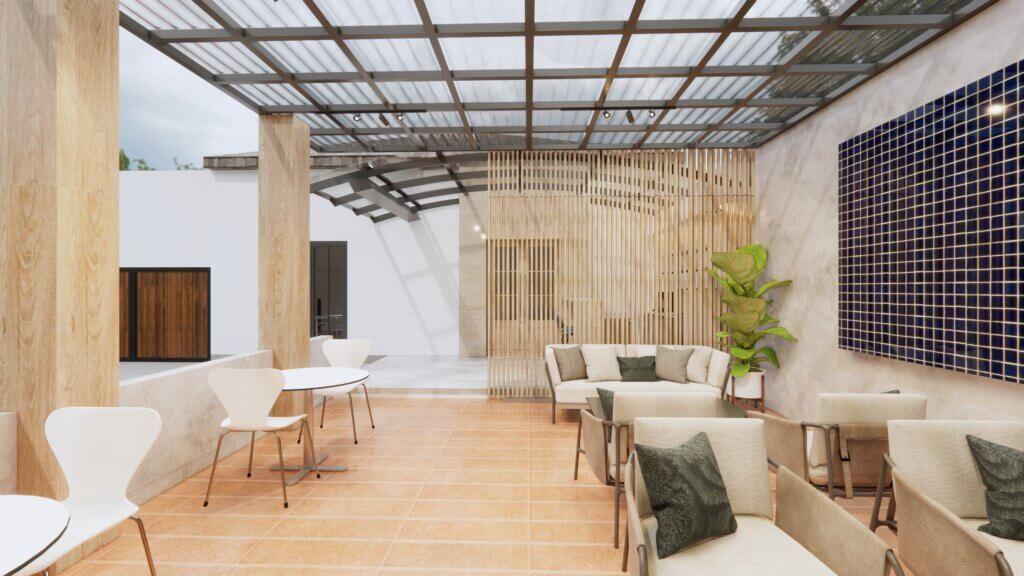 inspirasi interior kantor eclectic design