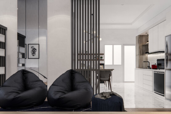 interior ruang keluarga modern