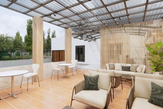 inspirasi desain kantor eclectic design