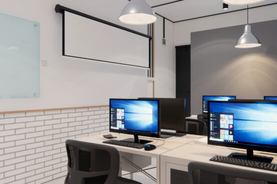 ide desain interior kantor industrial