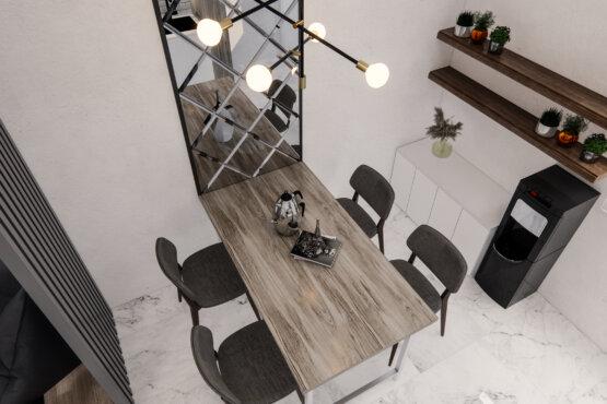 ruang makan dan dapur modern