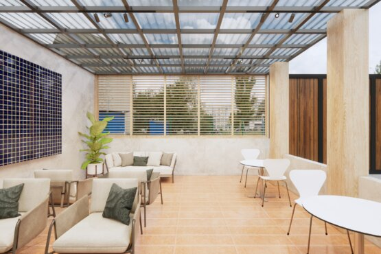desain interior kantor eclectic design