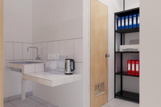 pantry desain interior kantor industrial