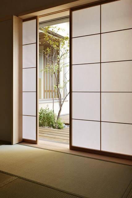 desain pintu minimalis jepang