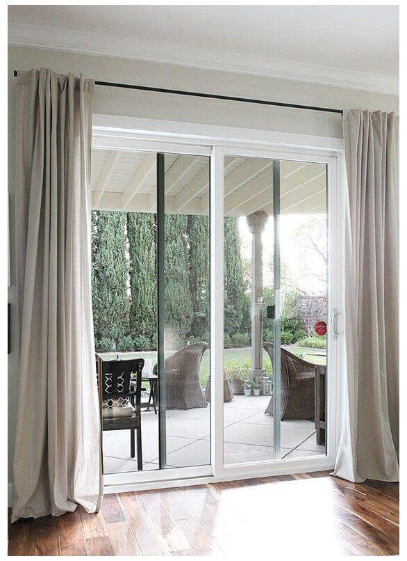 desain pintu minimalis kaca geser
