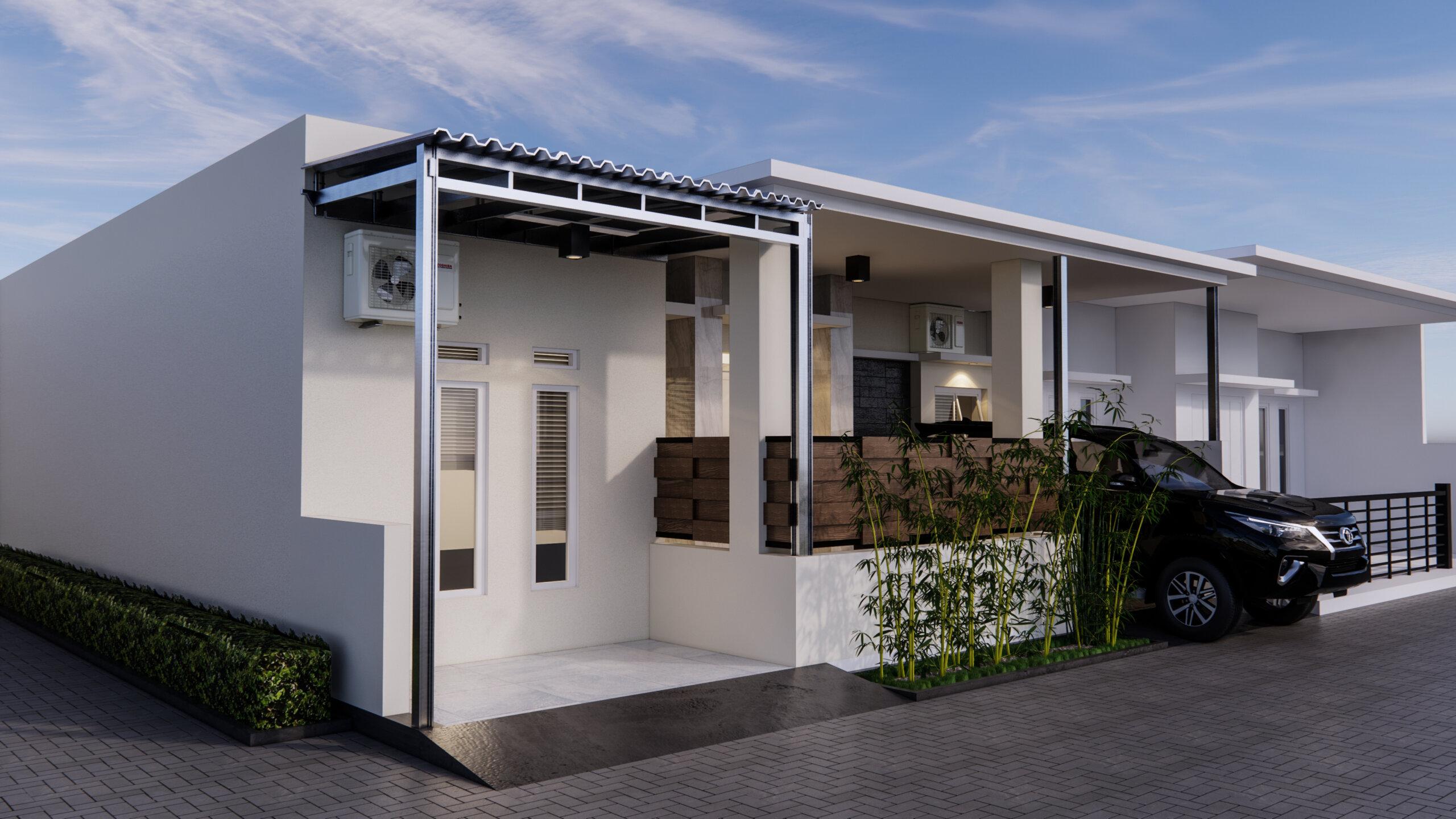 fasad rumah modern