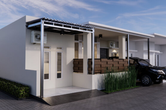 desain fasad rumah modern