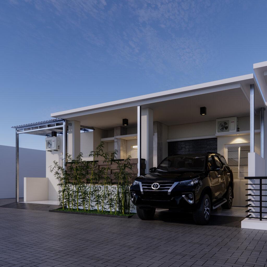 tampilan desain rumah modern