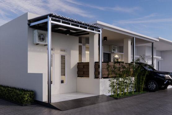 tampilan desain fasad rumah modern
