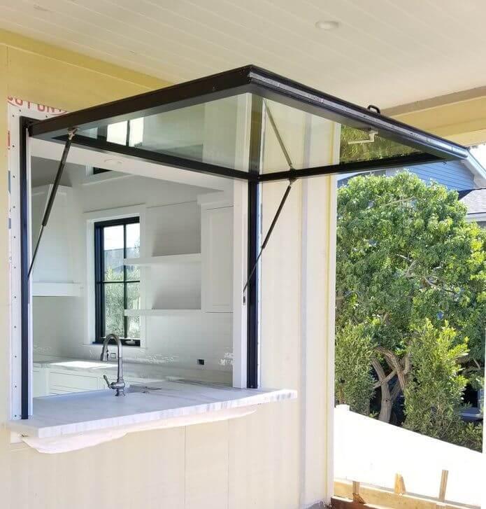 model jendela minimalis awning