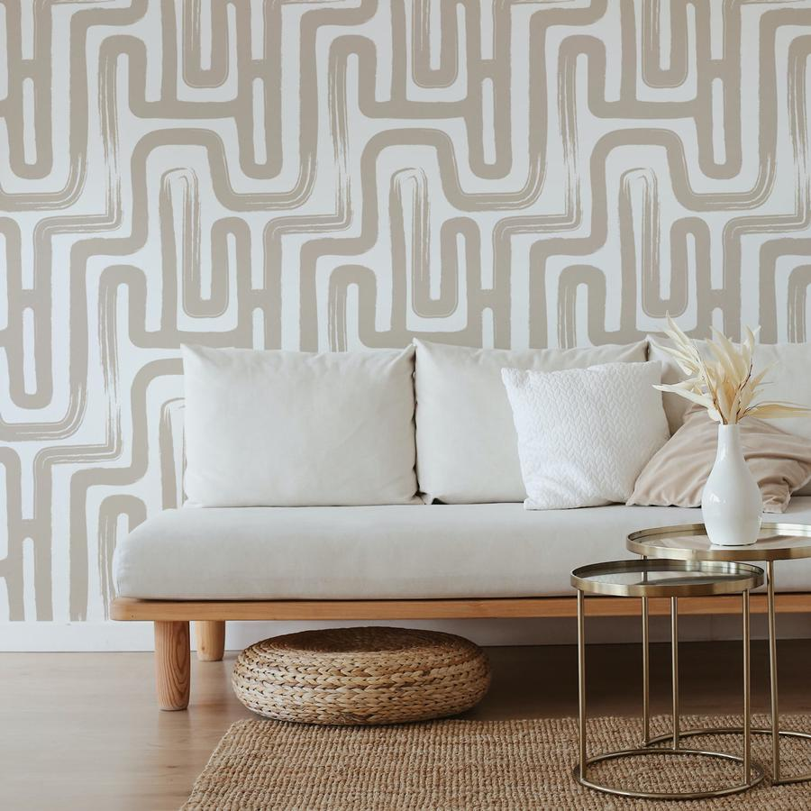 wallpaper dinding minimalis bebentuk labirin