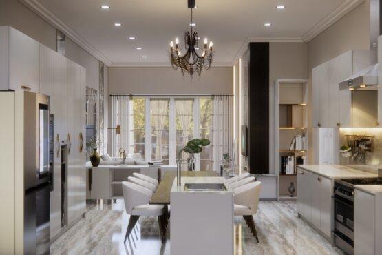 dapur dan ruang makan klasik