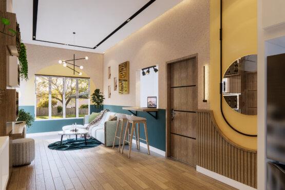ruang keluarga eclectic designs