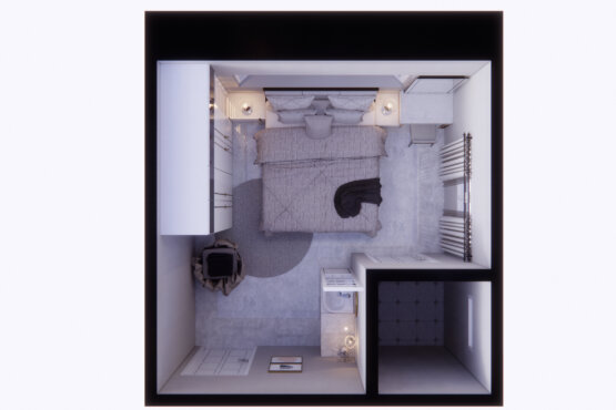 denah kamar tidur klasik