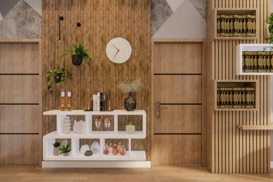 ruang keluarga dengan eclectic designs