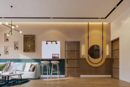 inspirasi ruang keluarga eclectic designs