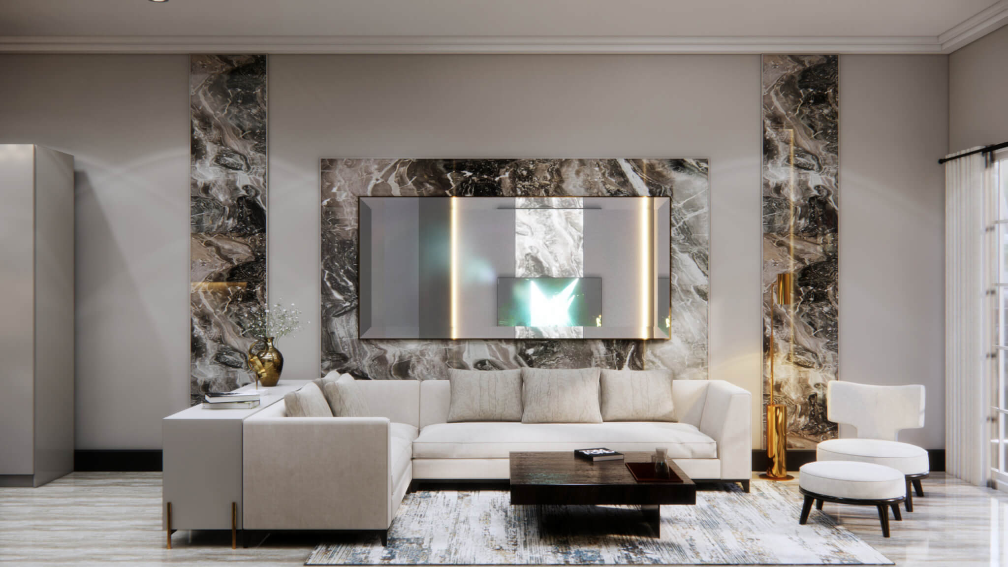 inspirasi ruang keluarga desain klasik